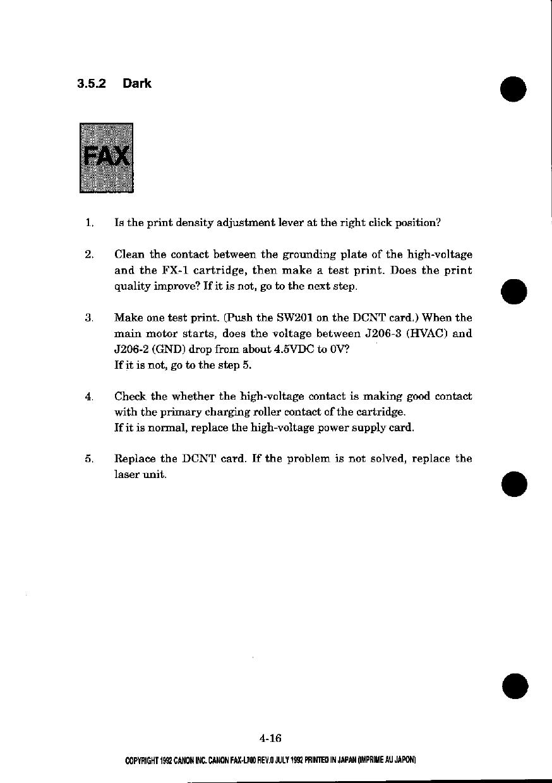 canon fax l700 parts and service manual